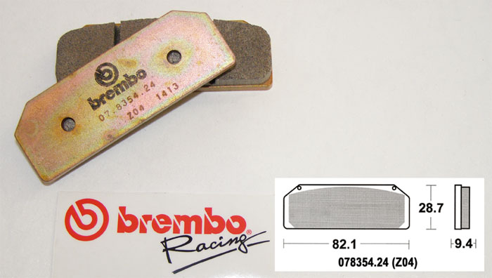 Brembo Racing-Brake Pads Z04, front, 07835424