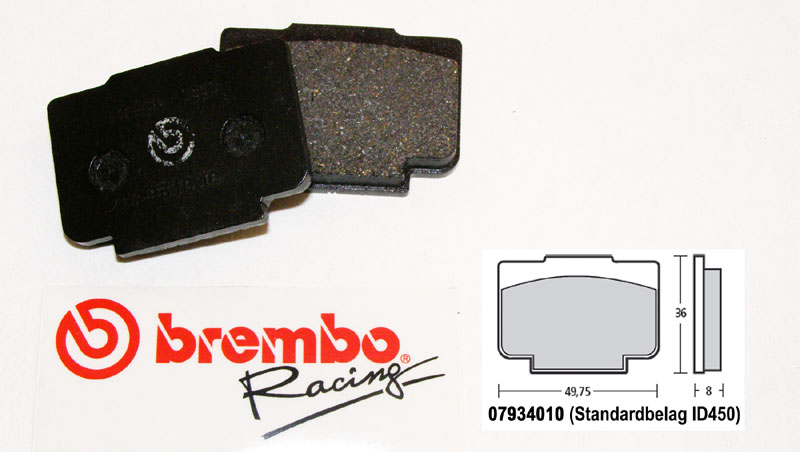 Brembo Racing-Brake Pads Standard, rear, 07934010