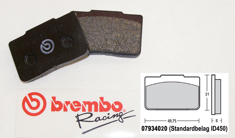 Brembo Racing-Brake Pads Standard, rear, 07934020