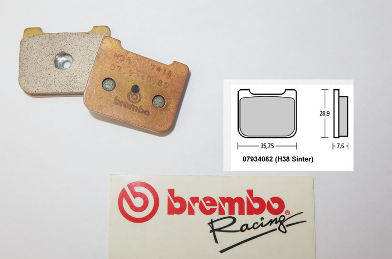 Brembo Racing-Brake Pads Sinter, rear, 07934082
