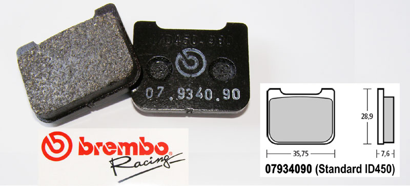 Brembo Racing-Brake Pads Standard, rear, 07934090