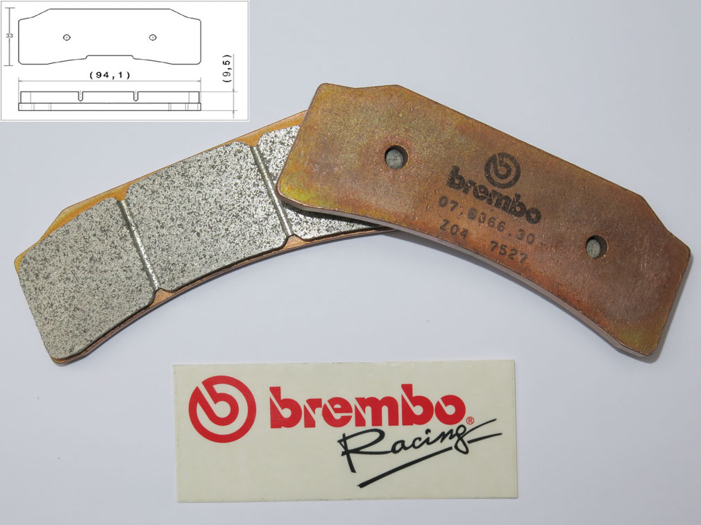 Brembo Racing-Brake Pads Z04, front, 07B36630