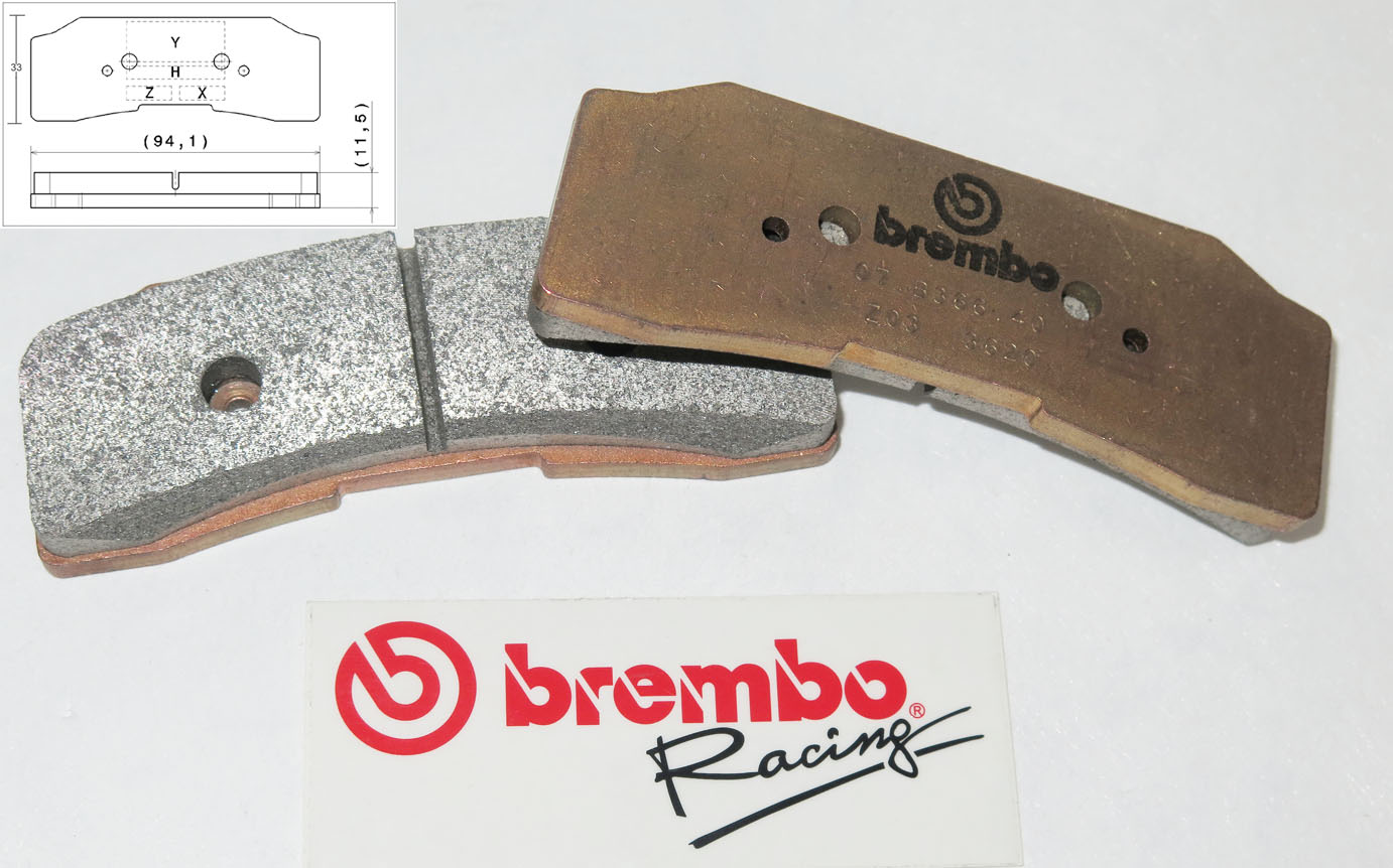 Brembo Racing-Brake Pads Z03, front, 07B36640