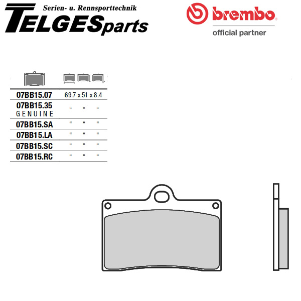 07BB1535 Brembo Bremsbelag - OEM ID450 Genuine Carbon Ceramic