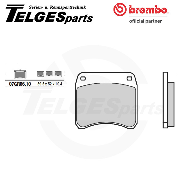 07GR6610 Brembo Brake Pad - CC Carbon Ceramic Road