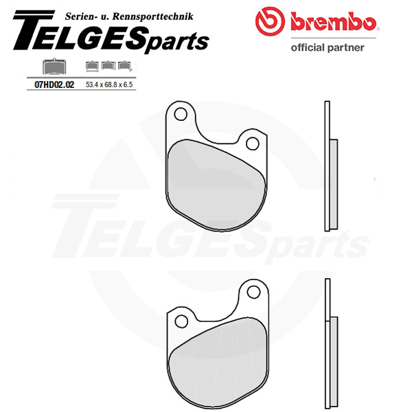 07HD0202 Brembo Brake Pad - CC Carbon Ceramic Road