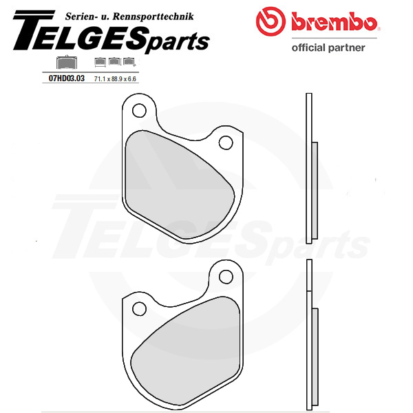 07HD0303 Brembo Brake Pad - CC Carbon Ceramic Road