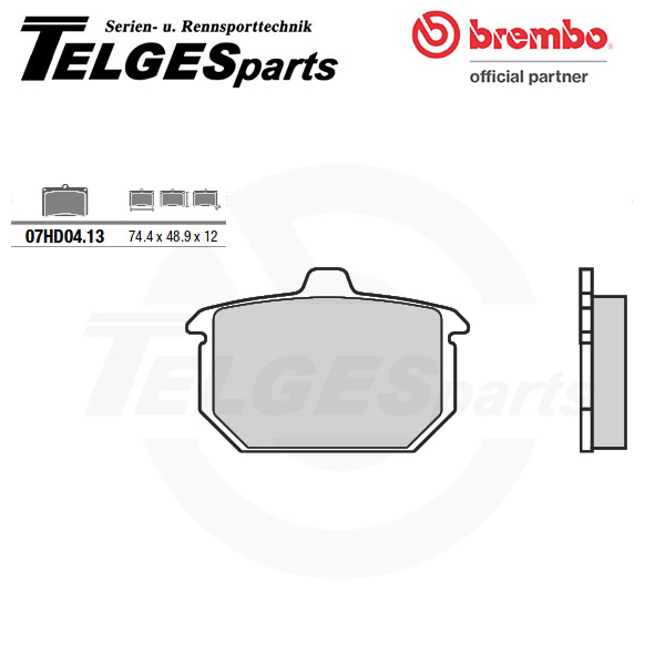 07HD0413 Brembo Brake Pad - CC Carbon Ceramic Road