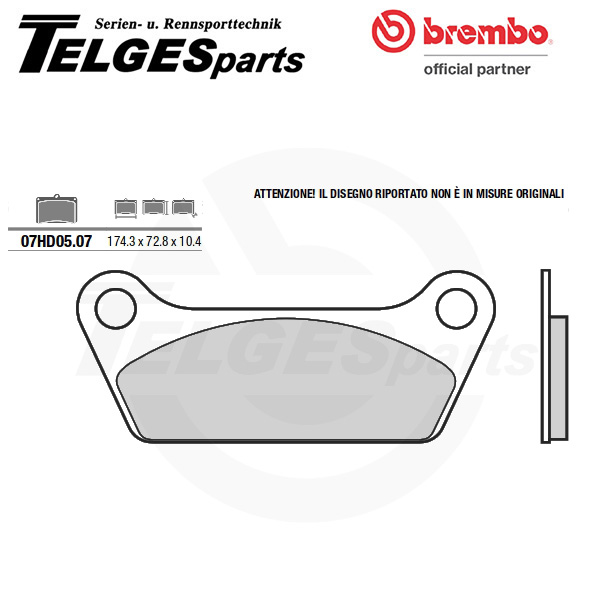 07HD0507 Brembo Brake Pad - CC Carbon Ceramic Road