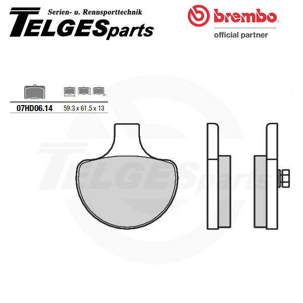 07HD0614 Brembo Brake Pad - CC Carbon Ceramic Road