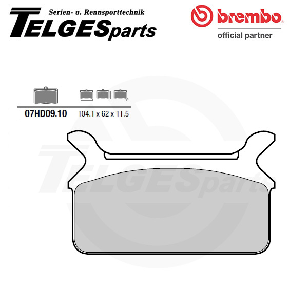 07HD0910 Brembo Brake Pad - CC Carbon Ceramic Road