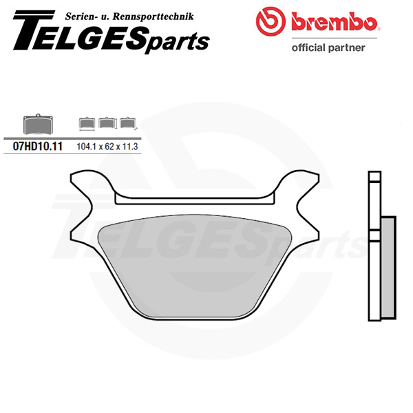 07HD1011 Brembo Brake Pad - CC Carbon Ceramic Road