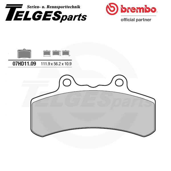 07HD1109 Brembo Brake Pad - CC Carbon Ceramic Road