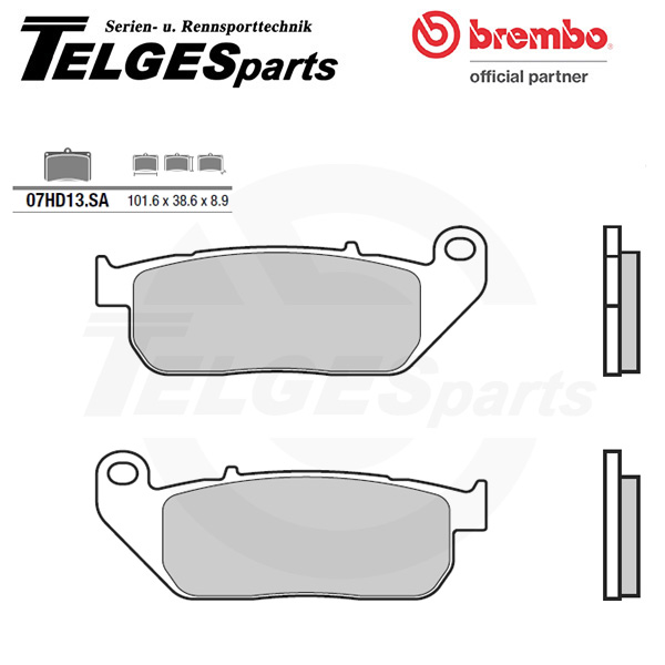 07HD13SA Brembo Brake Pad - SA Sinter Road
