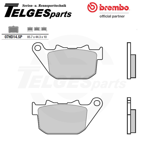 07HD14SP Brembo Brake Pad - SP Sinter Road rear