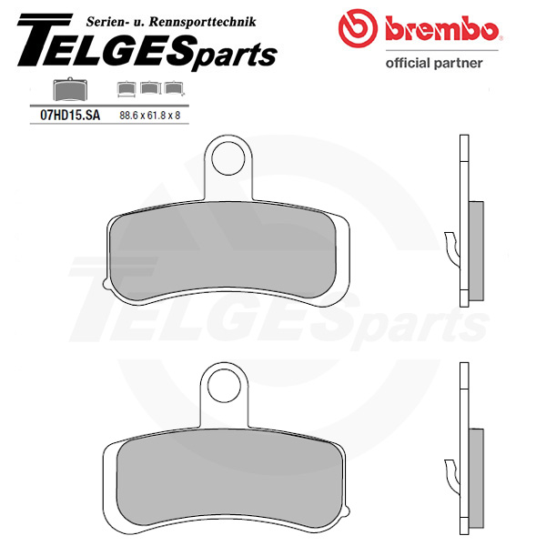07HD15SA Brembo Brake Pad - Sintered, front