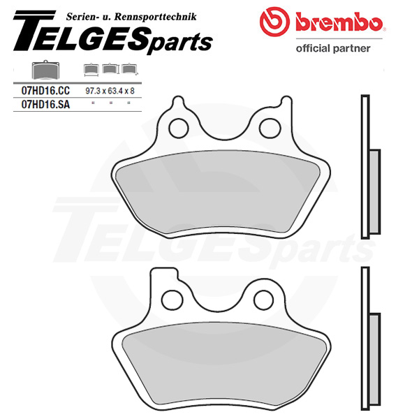 07HD16SA Brembo Brake Pad - Sintered, front