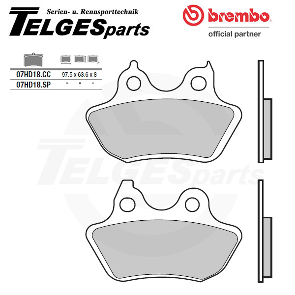 07HD18SP Brembo Brake Pad - SP Sinter Road rear