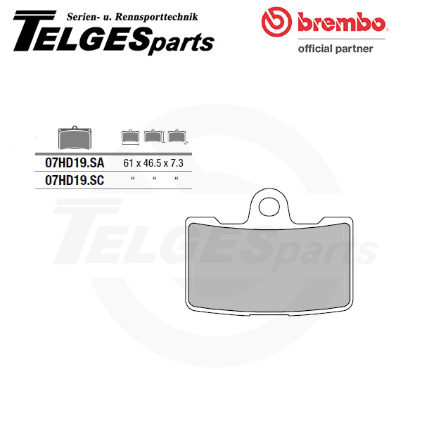 07HD19SA Brembo Brake Pad - SA Sinter Road