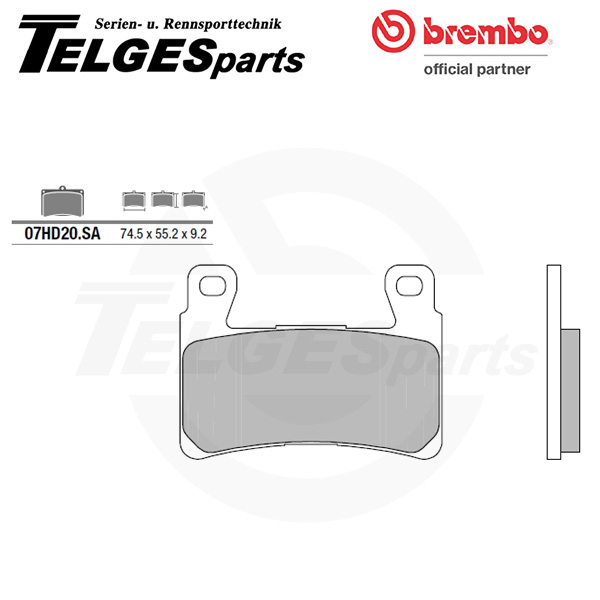07HD20SA Brembo Brake Pad - Sintered, front