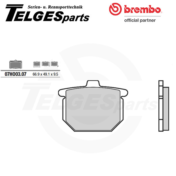 07HO0307 Brembo Brake Pad - CC Carbon Ceramic Road