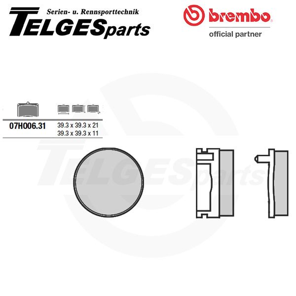 07HO0631 Brembo Brake Pad - CC Carbon Ceramic Road