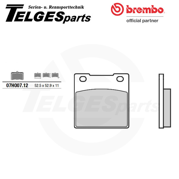 07HO0712 Brembo Brake Pad - CC Carbon Ceramic Road
