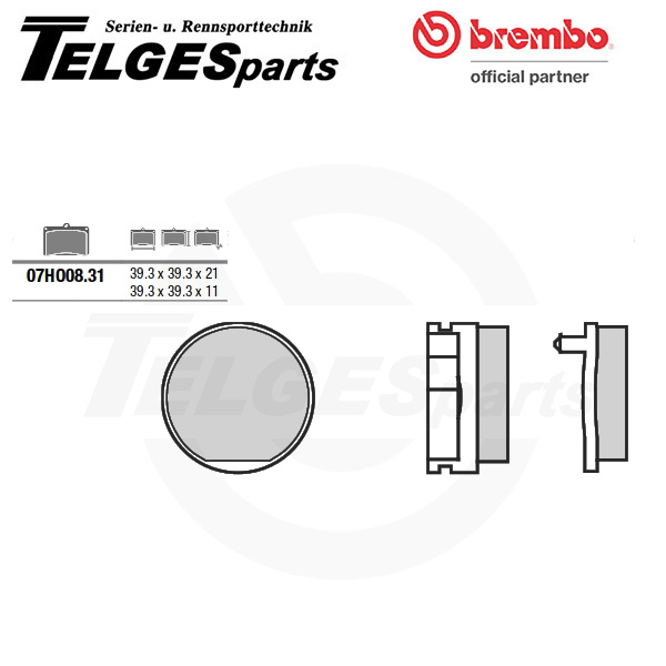 07HO0831 Brembo Brake Pad - CC Carbon Ceramic Road