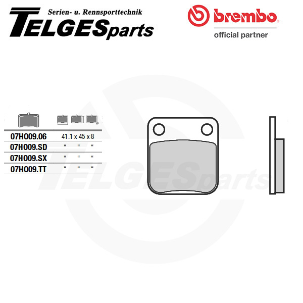 07HO09SD Brembo Bremsbelag - Sinter, Off-Road