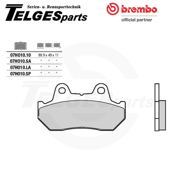 07HO1010 Brembo Brake Pad - CC Carbon Ceramic Road