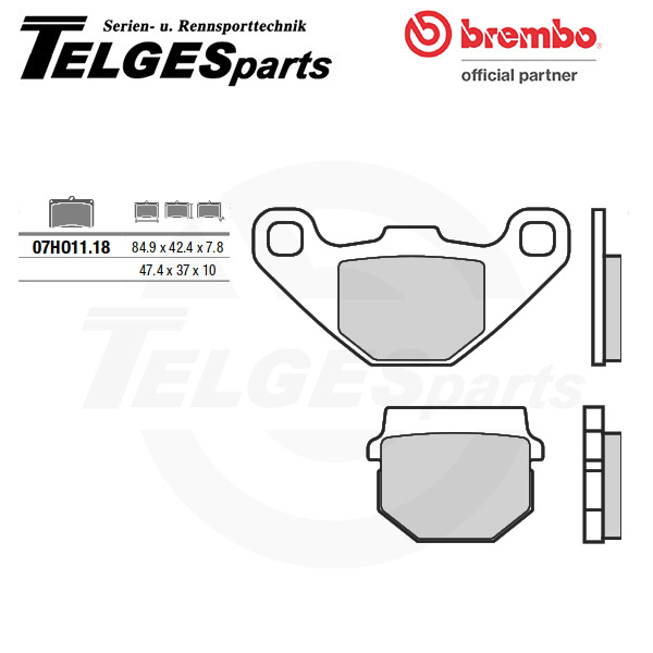 07HO1118 Brembo Brake Pad - CC Carbon Ceramic Road