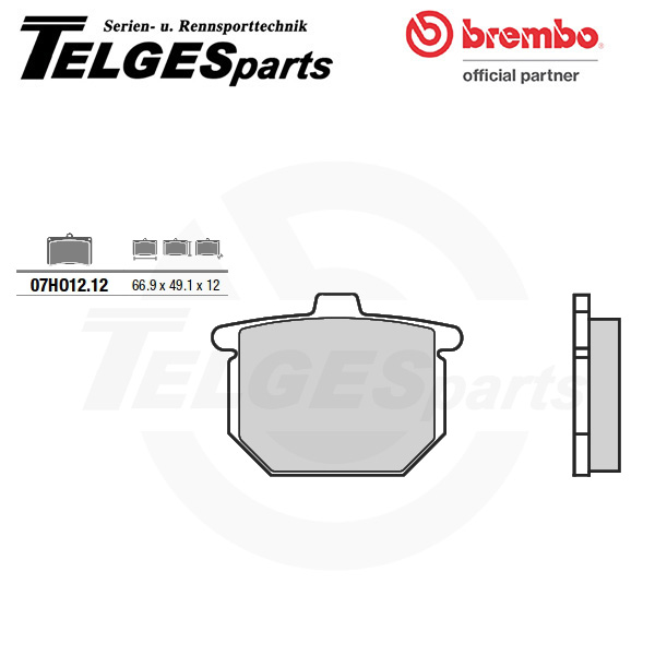 07HO1212 Brembo Brake Pad - CC Carbon Ceramic Road