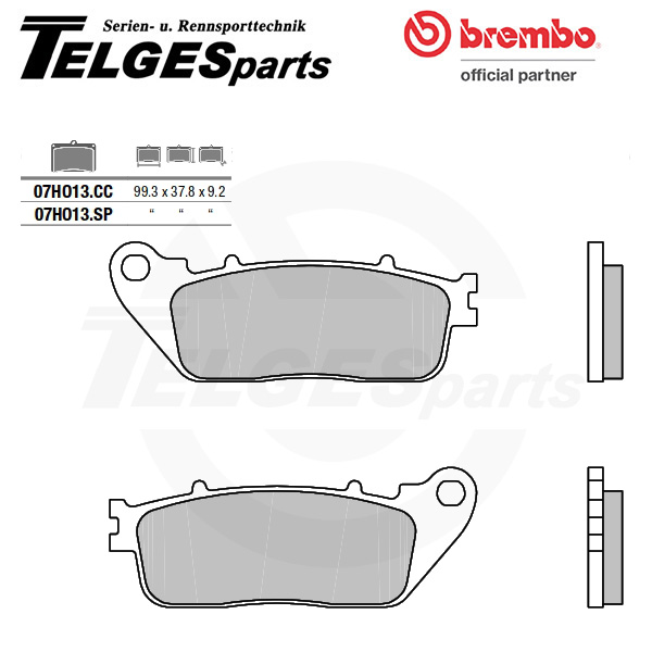 07HO13SP Brembo Brake Pad - SP Sinter Road rear
