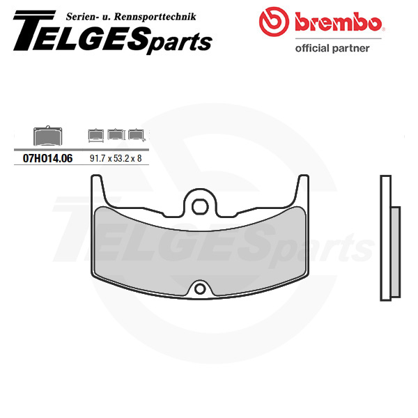 07HO1406 Brembo Brake Pad - CC Carbon Ceramic Road