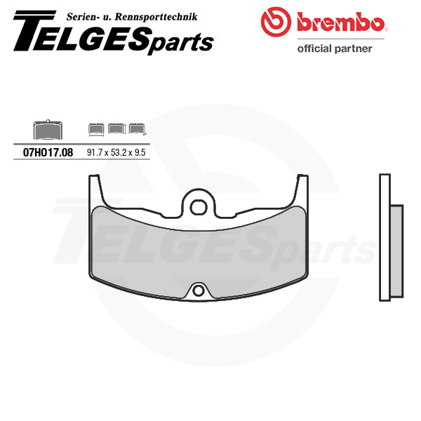 07HO1708 Brembo Brake Pad - CC Carbon Ceramic Road
