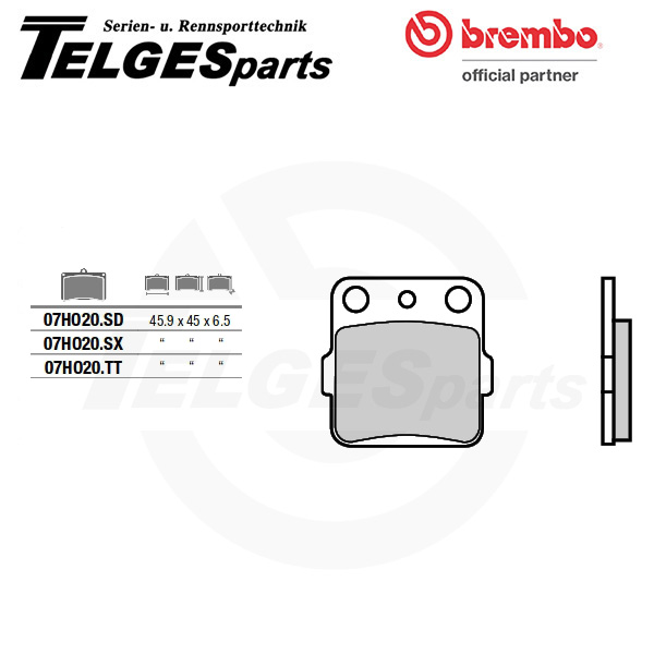 07HO20SD Brembo Brake Pad - SD Sinter Off-Road