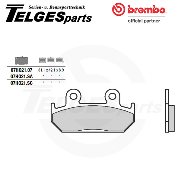 07HO2107 Brembo Brake Pad - CC Carbon Ceramic Road