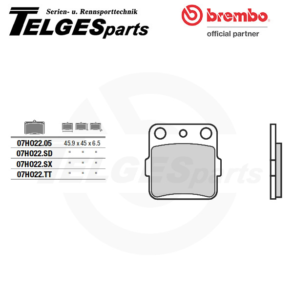 07HO2205 Brembo Brake Pad - CC Carbon Ceramic Road