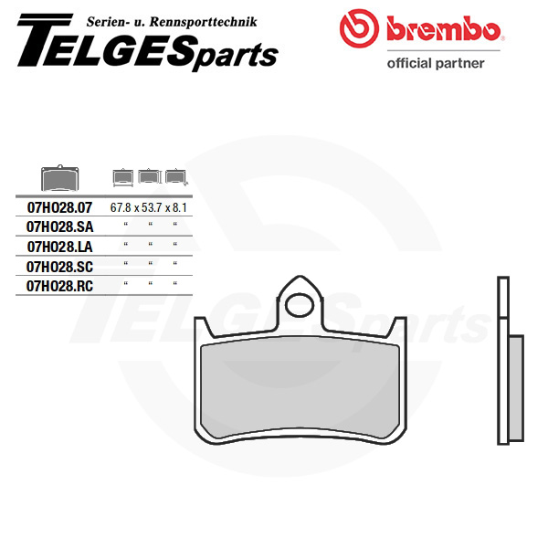 07HO28LA Brembo Brake Pad - LA Sinter Road