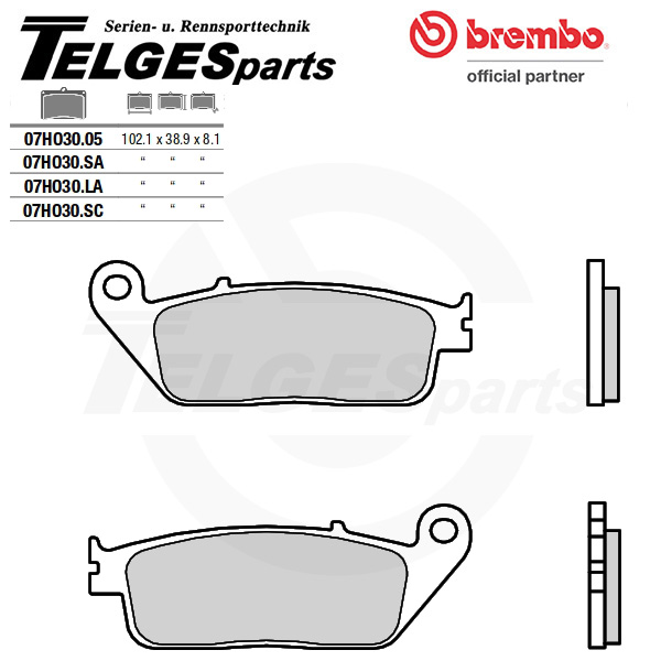 07HO3005 Brembo Brake Pad - CC Carbon Ceramic Road