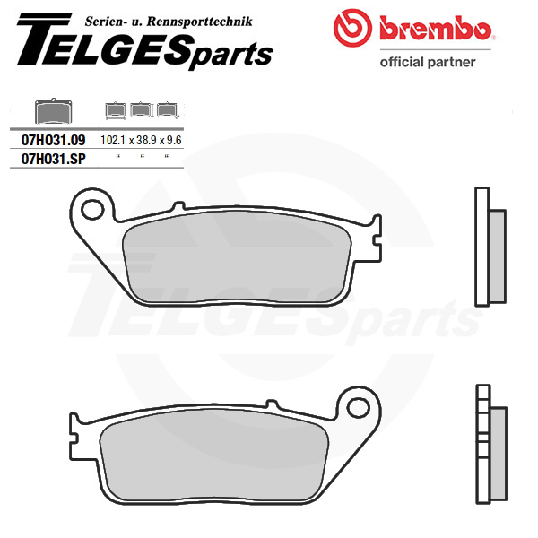 07HO3109 Brembo Brake Pad - CC Carbon Ceramic Road