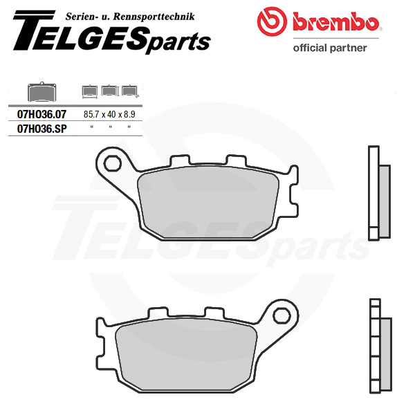 07HO36SP Brembo Brake Pad - SP Sinter Road rear