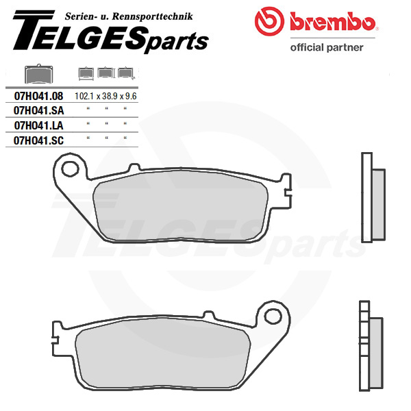 07HO41SC Brembo Brake Pad - SC Sinter Race