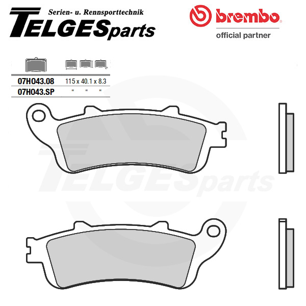 07HO43SP Brembo Brake Pad - SP Sinter Road rear