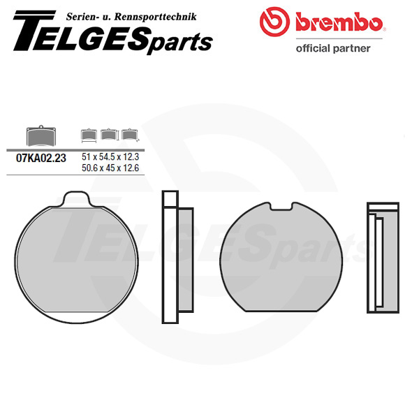 07KA0223 Brembo Brake Pad - Standard, rear