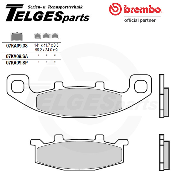 07KA09SP Brembo Brake Pad - Sintered, rear