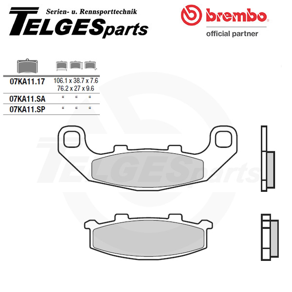 07KA11SP Brembo Brake Pad - Sintered, rear
