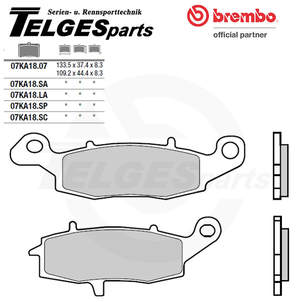07KA18SP Brembo Brake Pad - SP Sinter Road rear