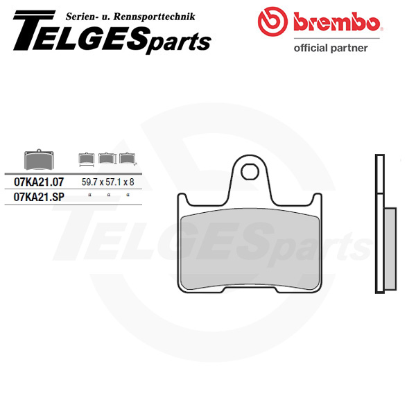 07KA21SP Brembo Brake Pad - SP Sinter Road rear