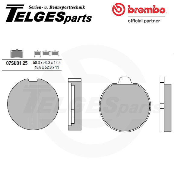 07SU0125 Brembo Brake Pad - CC Carbon Ceramic Road